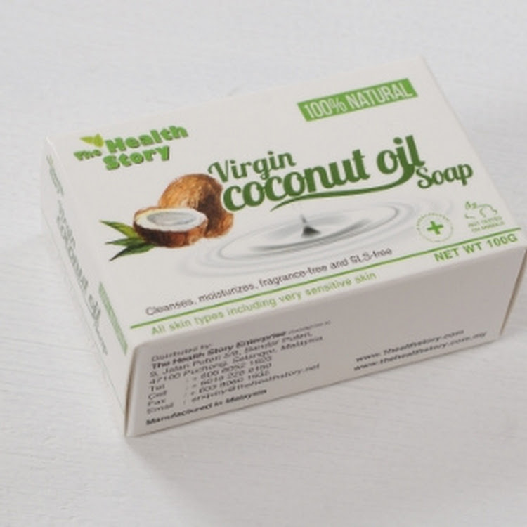 The Health Story Natural Virgin Coconut Oil Soap ( 100g )