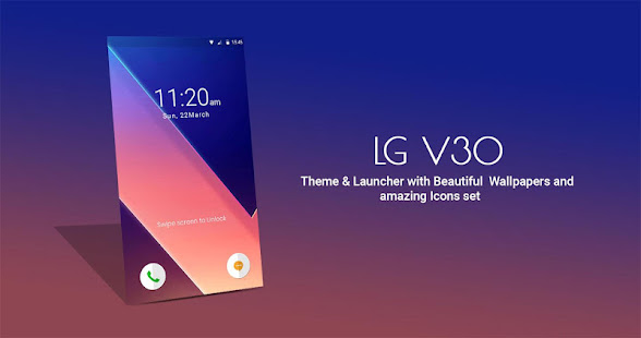 Theme For Lg V30 Launcher Live Wallpaper אפליקציות ב