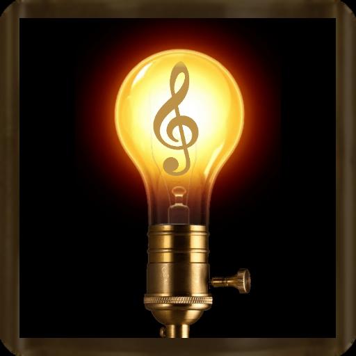 Flashlight with music (steampunk-style)