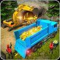 Gold Digger Heavy Excavator Crane Mining Games icon