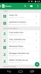Google Sheets APK screenshot thumbnail 2
