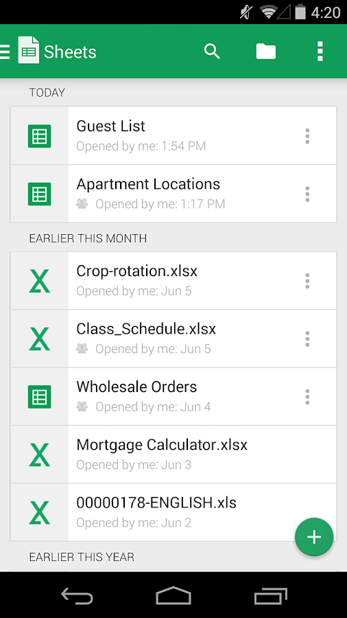 Google Sheets Android Apps on Google Play – Google Worksheet