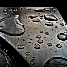 Rain on The Metallic Soul... by Purbayan Bhattacharyya - Instagram & Mobile Android ( abstract, macro )