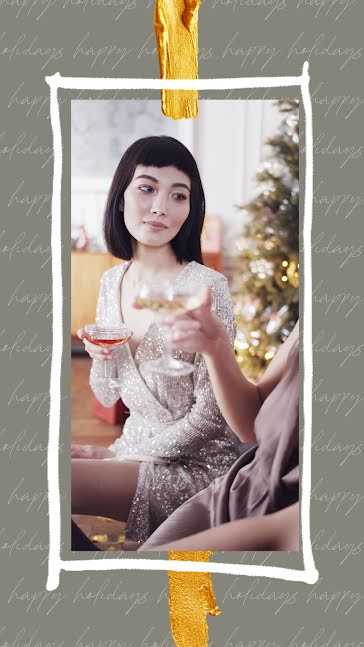 Holiday Cheers - Facebook Story template