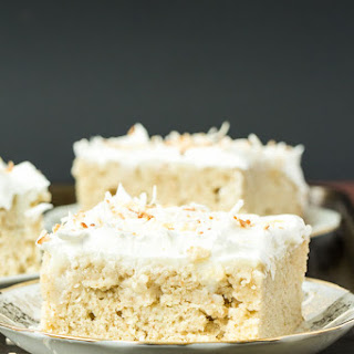 Homemade Coconut Cream Poke Cake