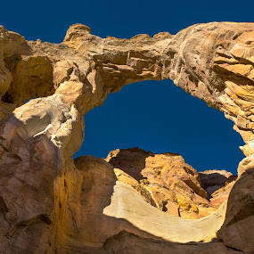 Grosvenor Arch by Chris Seaton - Landscapes Caves & Formations ( physical geography, geology, arch, beauty in nature, rock formation )