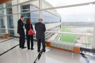 Photo: Mandelbaum & Albert Family Vision Gallery Dedicaiton at the Wisconsin Institutes for Medical Research - Tower II.