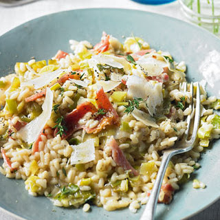 Leek And Bacon Risotto With Fresh Thyme
