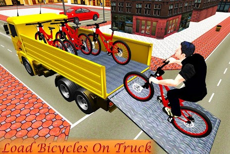 Bicycle Transport Truck Driver 3D - náhled