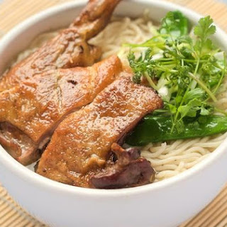 Taiwanese Smoked Duck Noodle Soup.