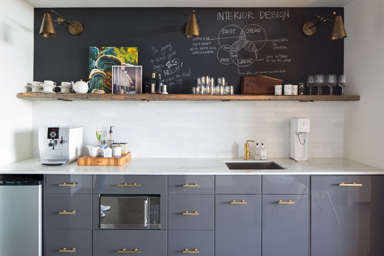 Calgary design community and office space launched by Leanne Bunnell Interiors - kitchen
