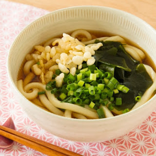 Udon Noodles with Tempura Bits