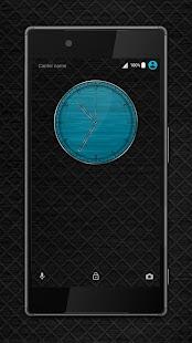 Metal Grid blue Xperia™ theme - náhled