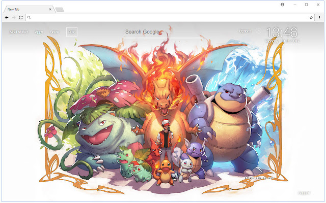 Charizard Wallpaper Pokemon New Tab Themes