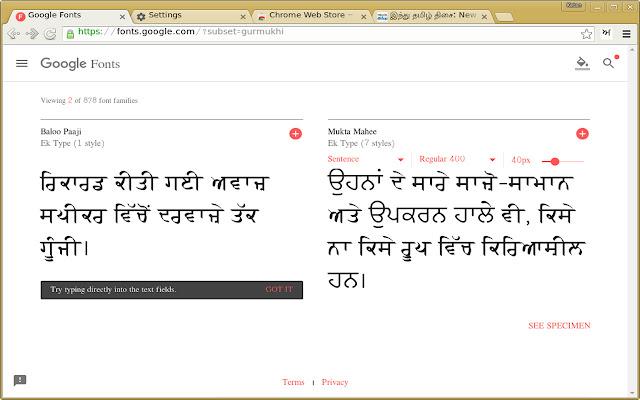 Punjabi Font Pack
