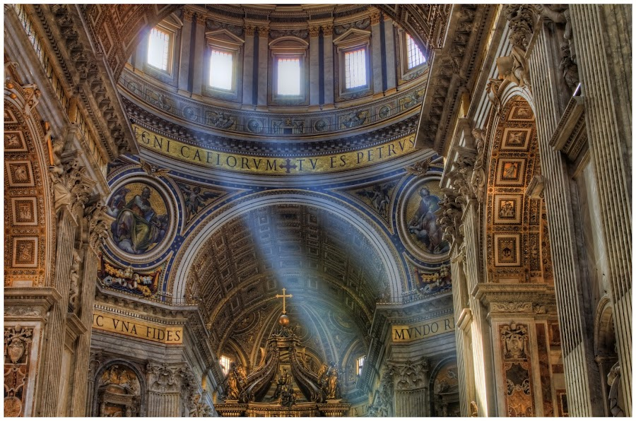 Upon this Rock by Tom Jackson - Buildings & Architecture Places of Worship ( st peters, church, rome, dome, cathedral, vatican, italy )