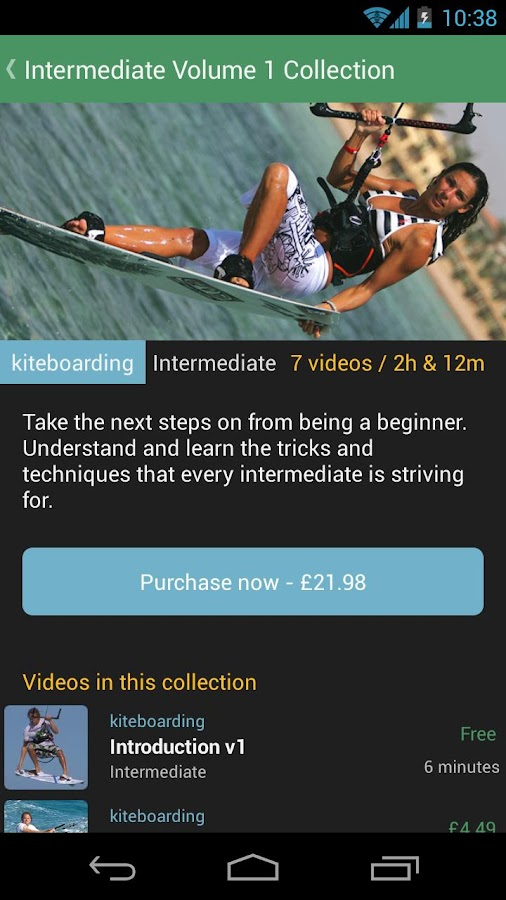 Kitesurfing Progression Player- screenshot