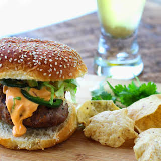 Thai Turkey Burgers with Spicy Aioli.