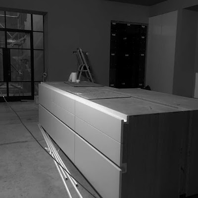A counter being built in Sussex