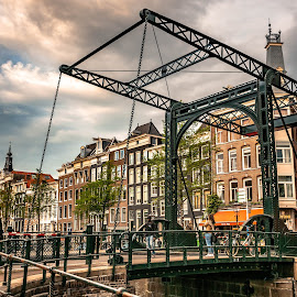At an Amsterdam bridge by Hariharan Venkatakrishnan - City,  Street & Park  Street Scenes (  )