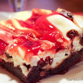Cherry Marbled Cheesecake Triple Chocolate Brownies.