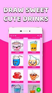 Download CDrawDrinks - Learn Draw cute Drinks, sweet, food For PC Windows and Mac apk screenshot 1