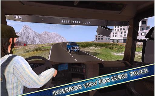 américain euro un camion Simulateur Jeux  captures d'écran 5