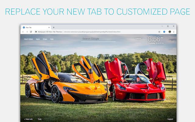 Cars Custom Lambo Ferrari GTR BMW Car New Tab