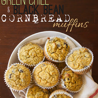 Green Chile and Black Bean Cornbread Muffins.