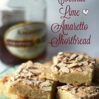 Coconut Lime Amaretto Shortbread