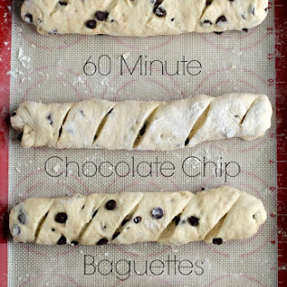 60 Minute Chocolate Chip Baguettes