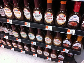 Photo: The Kraft BBQ Sauce display at my Walmart; the good stuff (or what I wanted, anyway) is down on the floor.