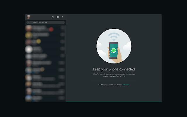 Web Whatsapp Dark Mode