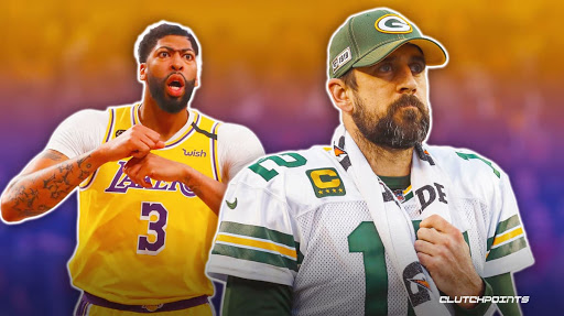 Lakers' Anthony Davis reacts to Packers-Aaron Rodgers situation