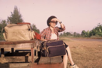 Photo: Waiting on a bus outside of Khao-I-Dang Refugee Camp on the Thai-Cambodian border