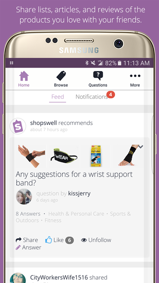 Shopswell- screenshot