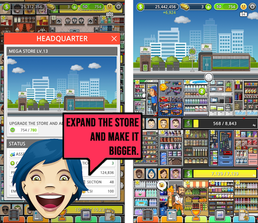 Mega Store Manager: Business Idle Clicker 1.0.62 screenshots 4