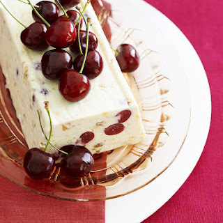 Frozen Cherry and Nougat Dessert
