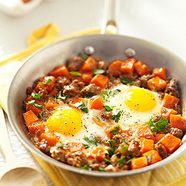 Spicy Sausage and Sweet Potato Hash Recipe | Yummly