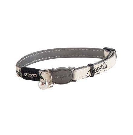 Rogz Glowcat Halsband Small Svart 11mm 20-31cm