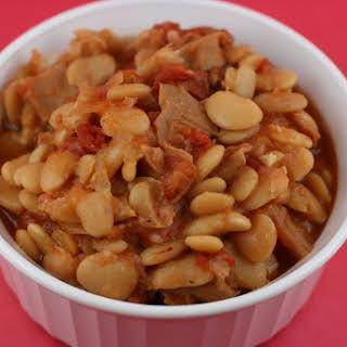 Lima Bean Casserole Cassoulet CrockPot.