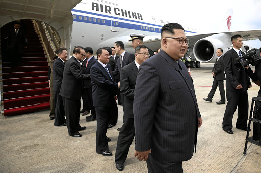 Historic trip: North Korean leader Kim Jong-un arrives in Singapore on Sunday in this picture obtained from social media. Kim and US President Donald Trump will meet during a summit in Singapore on Tuesday that is being extensively covered by the world media. Picture: REUTERS