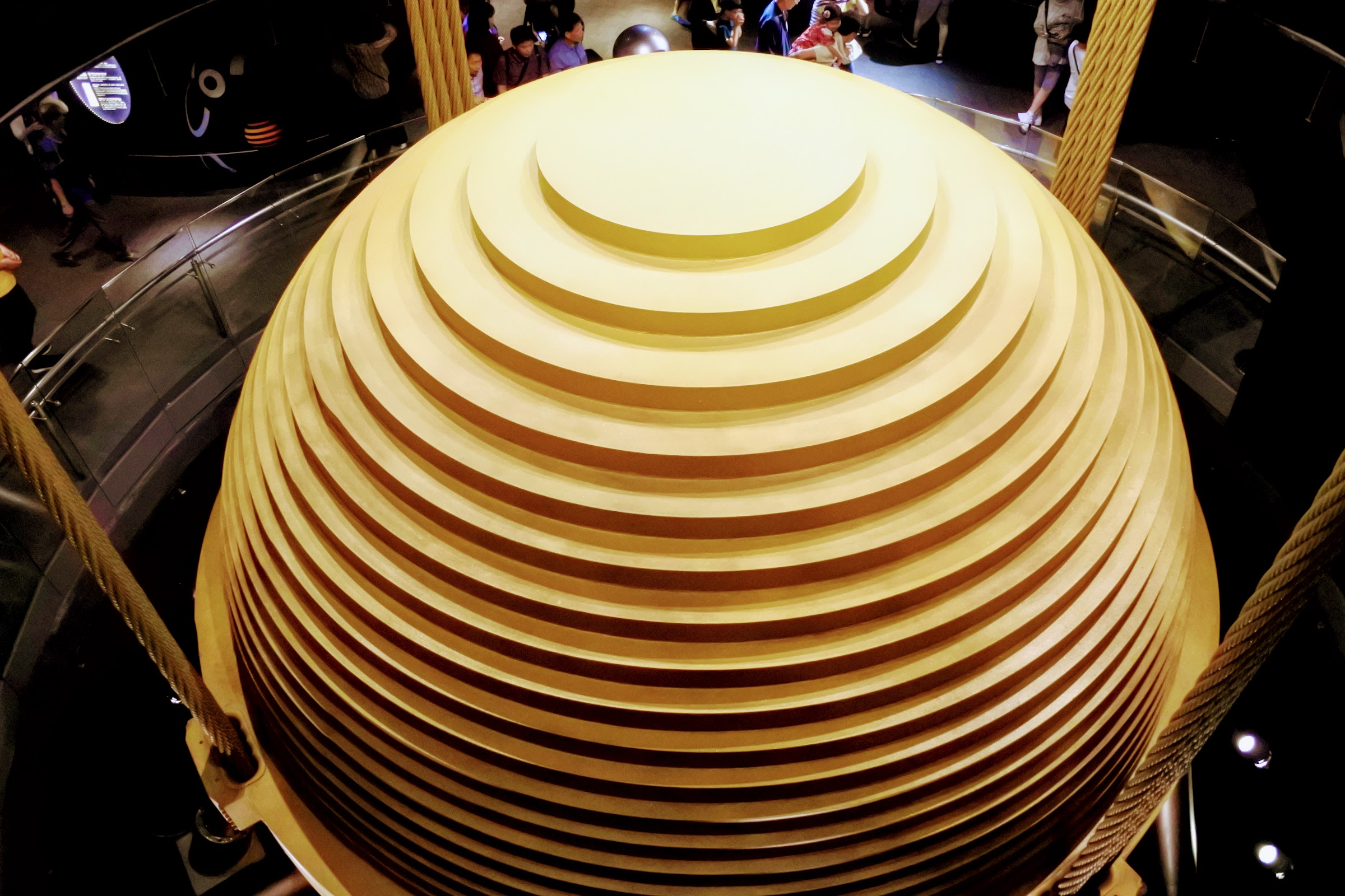 The unique wind damper at Taipei 101