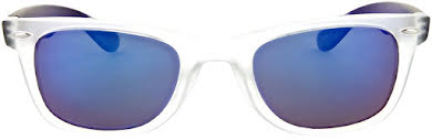 Optic Nerve ONE Dylan Polarized Sunglasses: Crystal Clear/Blue with Polarized Smoke Blue Mirror Lens alternate image 1