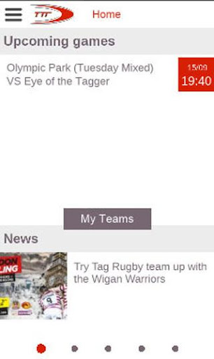Try Tag Rugby Player App