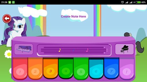 Little Pony Piano - Rainbow Dash