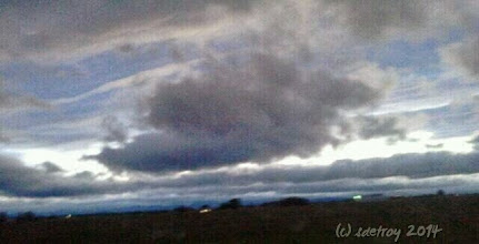 Photo: I am again grateful for the sky. Grateful to be driving home from a hike and seeing the clouds.