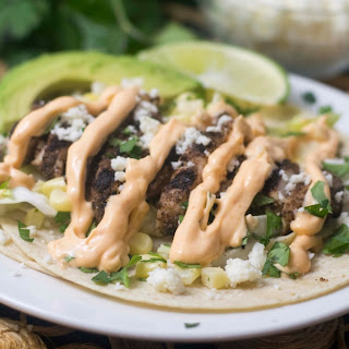 Gluten Free Jamaican Jerk Tacos with Spicy Mayo.