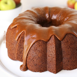 Healthier Apple Cream Cheese Bundt Cake (100% whole grain)