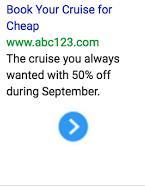 Imagen de anuncio de texto para cruceros económicos